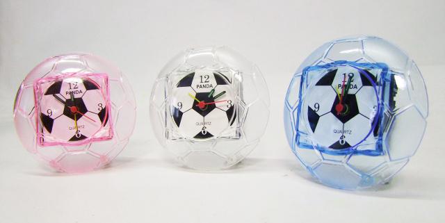 Budík - futbalová lopta, modrá farba