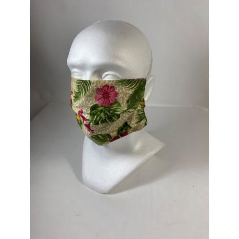 Bavlnené rúško kvety -gumička za hlavu