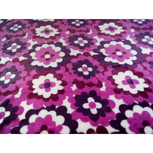 Deka fialové kvety 150x200cm, PoloTrade