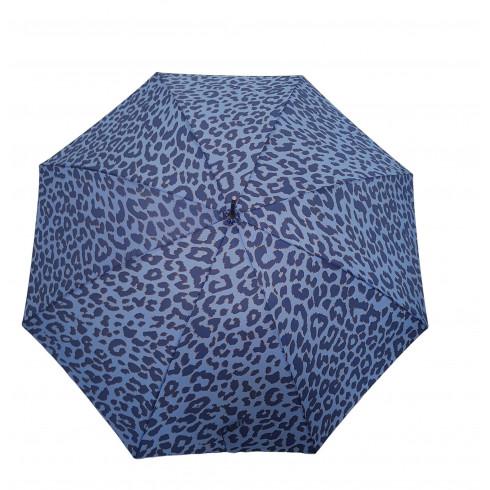 Dáždnik velký pevný, poloautomatický,  tigrovaný vzor