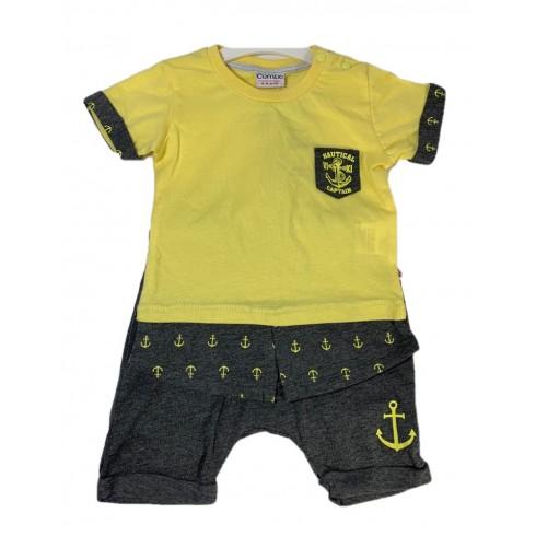 Chlapčenský kojenecký komplet kotva nautical captain