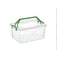 Plastový box transparentný s úchytmi na vrchnáku 7.5l