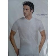 Pánske jednofarebné tričko - V výstrih, PoloTrade