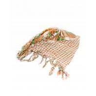 Dámska károvaná šatka so strapcami