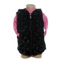 Detská vesta na zips a s kapucou