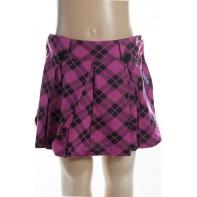 Dievčenská mini sukňa - káro