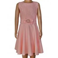 Dievčenské šaty - čipka s brošňou