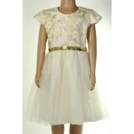 Dievčenské šaty kvet + trblietavý opasok, C-15-402