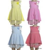 Detské šaty s čipkovanou spodničkou