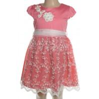 Detské šaty - kvetinová krajka, 15-613