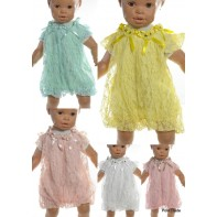 Detské šaty - kvetinová krajka