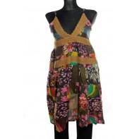 Dámske šaty na ramienka- krajka vintage