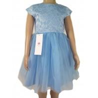 Dievčenské šaty - čipkovaný vrch