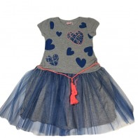 Dievčenské šaty srdiečka