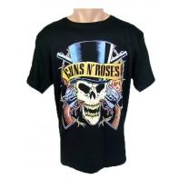 Tričko Guns N' Roses - Lebka v klobúku, obojstranná potlač