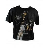 Pánske tričko kostra so zbraňou bad ass