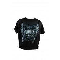 Pánske tričko PoloTrade Lebka s krídlami