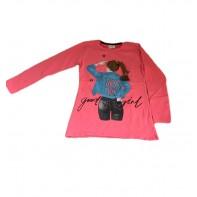 Dievčenské tričko dievča s copom