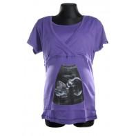 Tehotenské tričko s krátkym rukávom - ultrazvuk