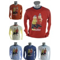 Detské tričko s dlhým rukávom a zvýrazneným límcom - Pat & Mat