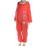 Pyžamo detské - overál srdce
