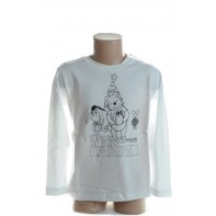 Detské tričko s ceruzkami - macko Pooh
