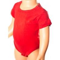 Detské  body - jednofarebné, krátky rukáv