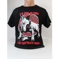 Pánske obojstranné tričko pittbulterier