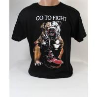Pánske obojstranné tričko buldog go to fight