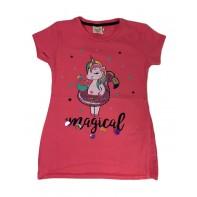 Dievčenské tričko jednorožec s plameniakom