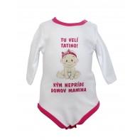 Dievčenské kojenecké body - tu velí tatino