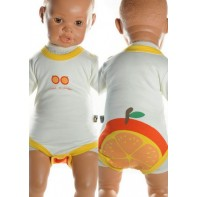 Detské, kojenecké body - pomaranč