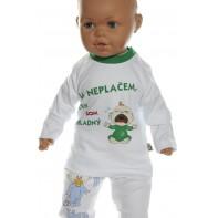 Detské tričko -Ja neplačem, len som hladný -zelená