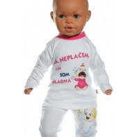 Detské tričko - Ja neplačem,len som hladná - ružová