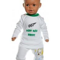 Detské tričko - Agent našej rodiny - zelená