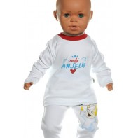 Detské tričko - Malý anjelik. červená