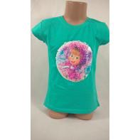 Dievčenské tričko - preklápacie flitre Máša 134*164