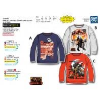 Detské tričko s dlhým rukávom Star Wars Rebels postavičky