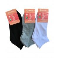 Dámske členkové jednofarebné ponožky - zdravotné