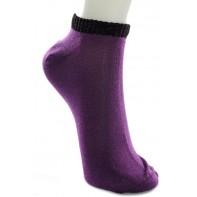 Dámske kotníkové ponožky - jednofarebné, C-21-215