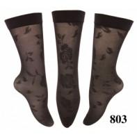 Kompresívne bezpätové silonkové ponožky LOTUS,vzor ruža