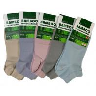 Dámske jednofarebné členkové ponožky bambusové