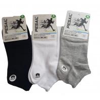 Kotníkové bavlnené ponožky jednofarebné