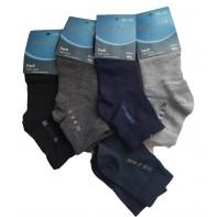 Pánske jednofarebné ponožky s jemným vzorom