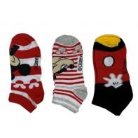 Detské ponožky Mickey červené 3ks