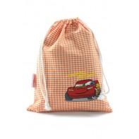 Textílne vrecúško na prezúvky Cars