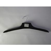 Vešiak plastový čierny - hrubé ramená