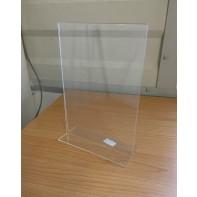 Plexisklový stojan na cenovky A4