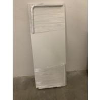 Drevená biela polica s konzolami 100*40*2cm