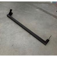 Tyč čierná hranatá do úzkej rebriny 60 cm